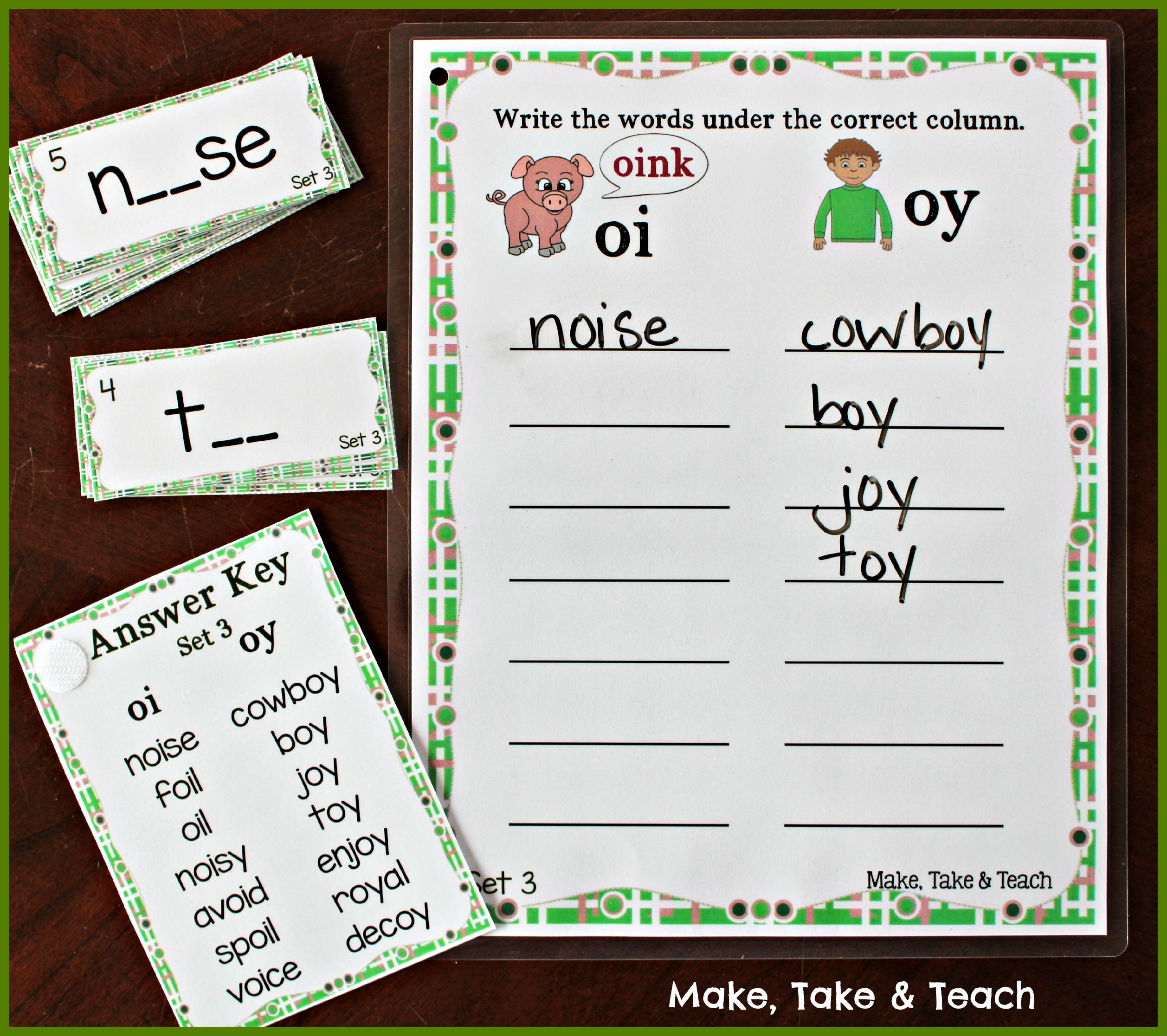 Activities For Teaching Oi Amp Oy