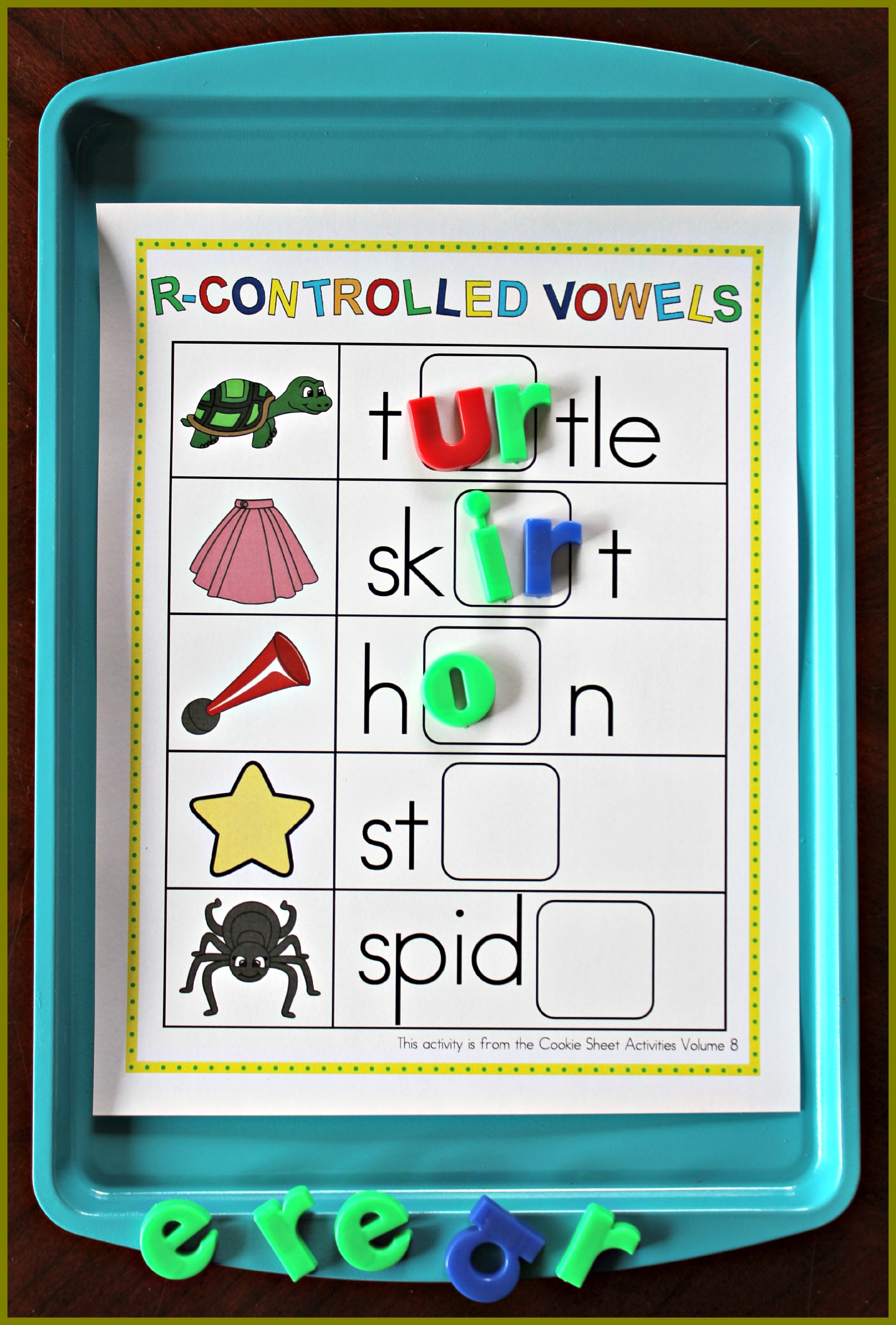 Cookie Sheet Activities For First Grade