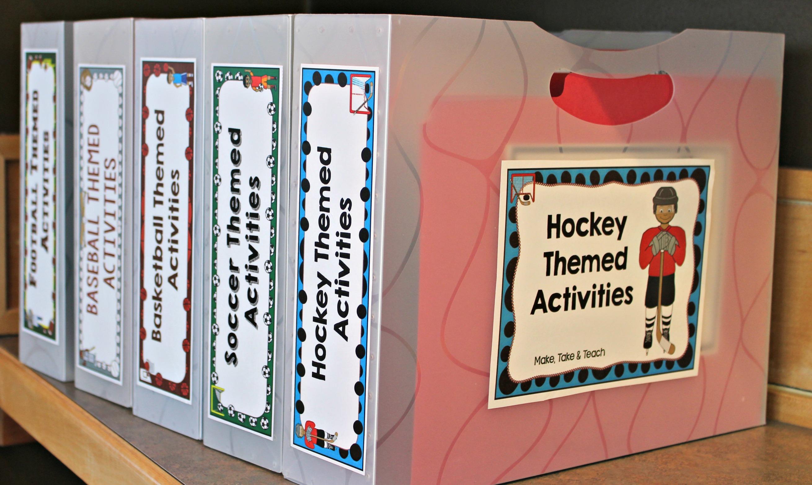 Hockey Themed Sight Word Activities