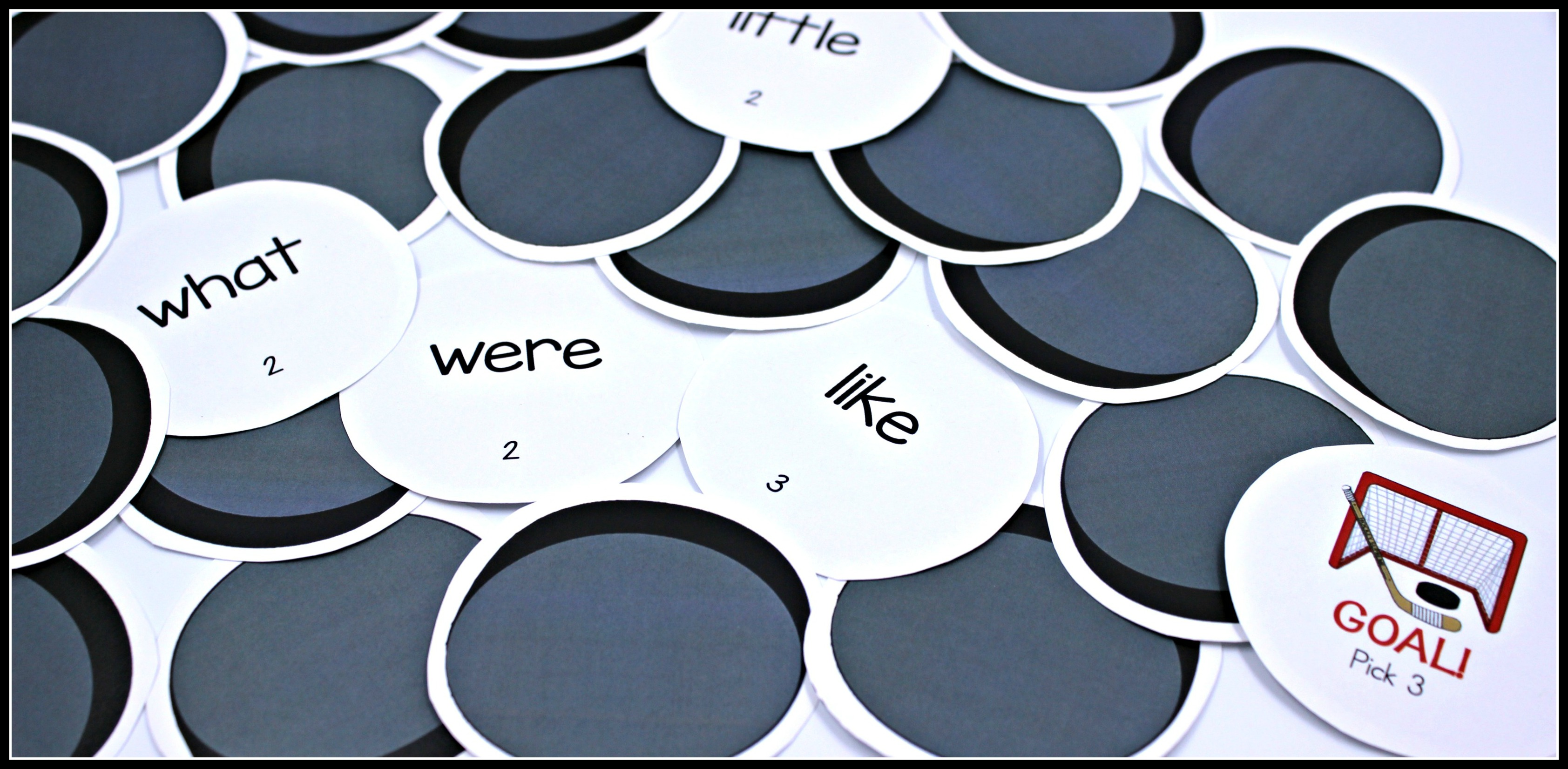 Hockey Themed Sight Word Activities