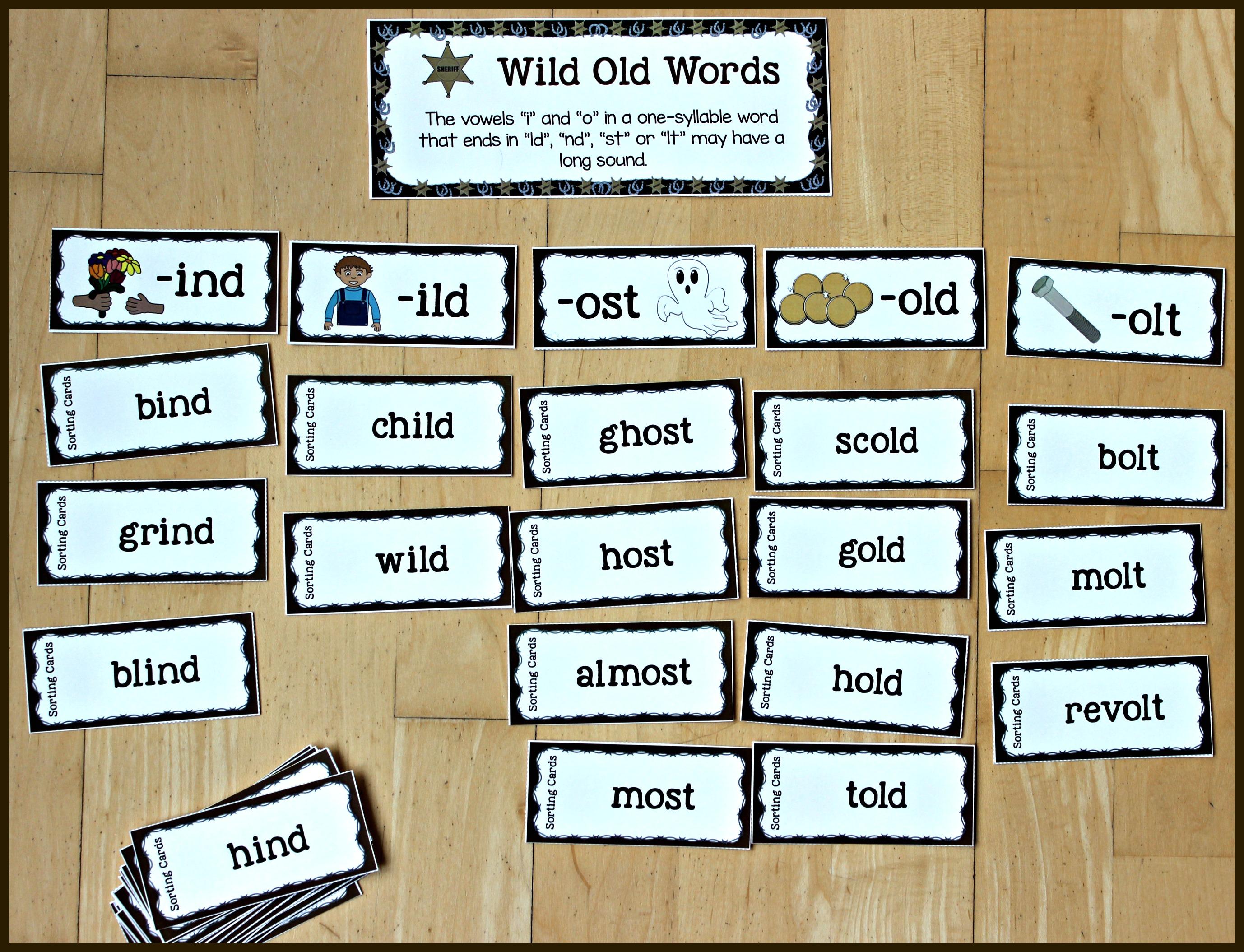 Wild Old Words Phonics Bundle