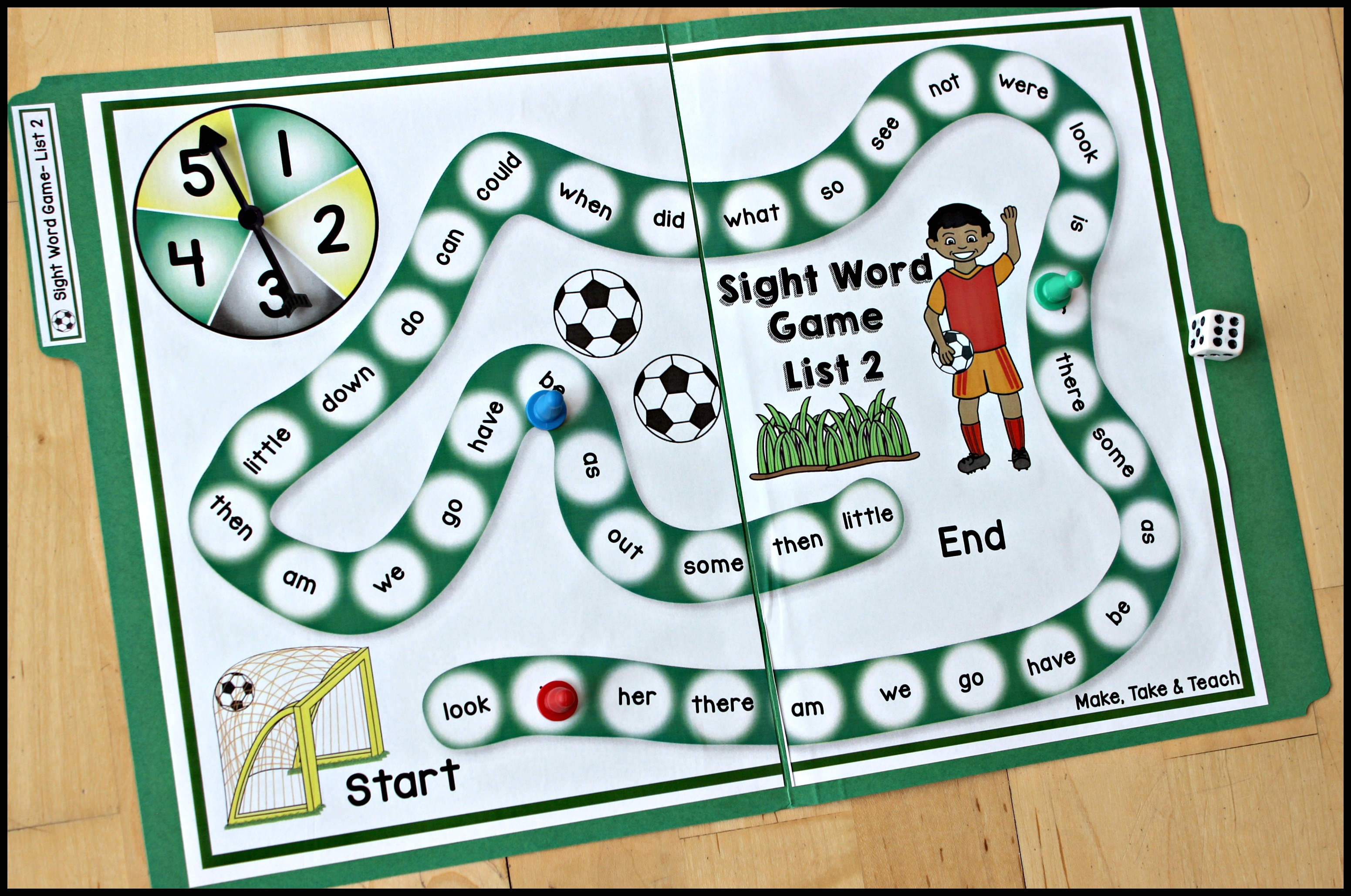 Soccer Themed Sight Word Activities