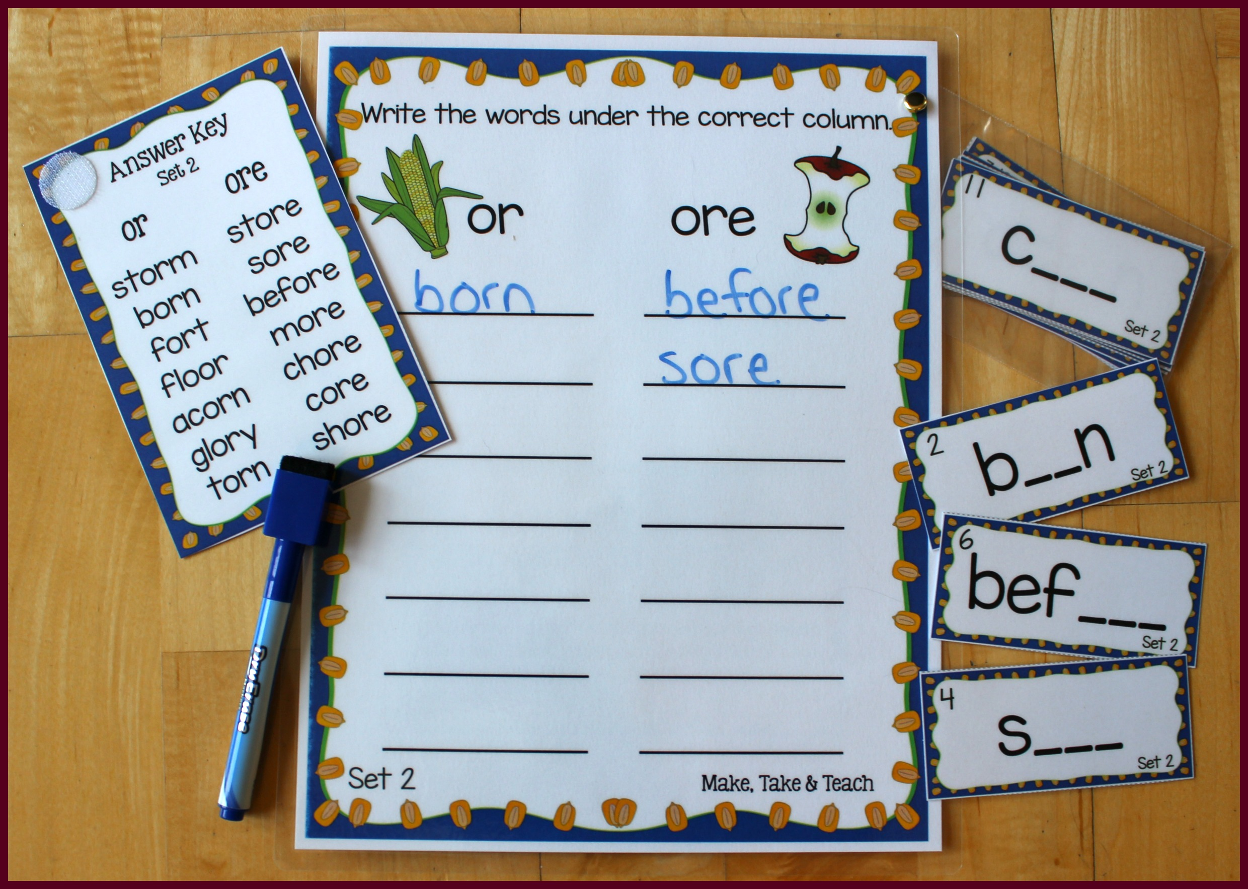 Hands On Activities For Teaching Or Oar Ore