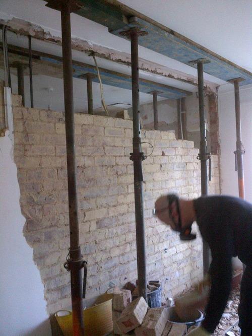 Knocking kitchen wall down open plan