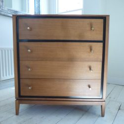 Mid Century Walnut chest of drawers - £180