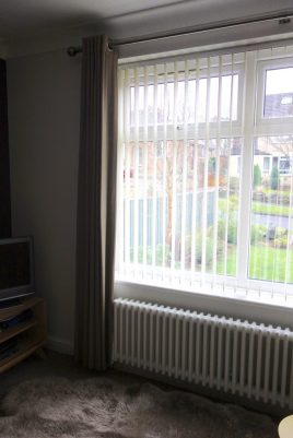 Windows before vertical blinds