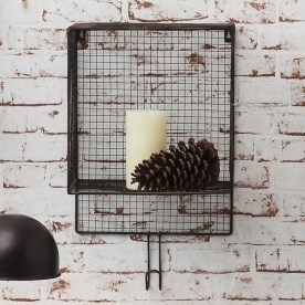 Wire Basket Wall Shelf by Gallery