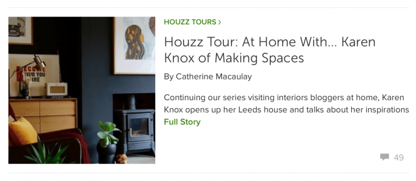 Houzz UK, May 2016