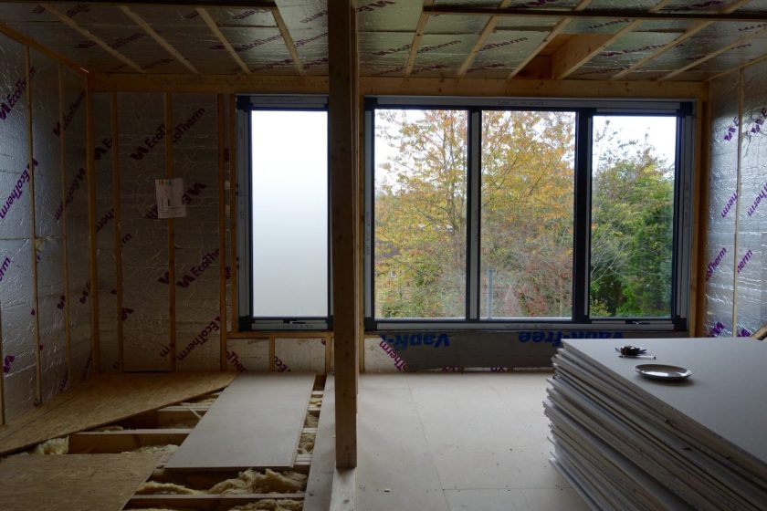 Aluminium windows loft extension