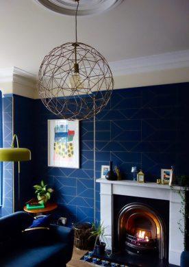 ceiling-rose-and-geometric-pendant-light