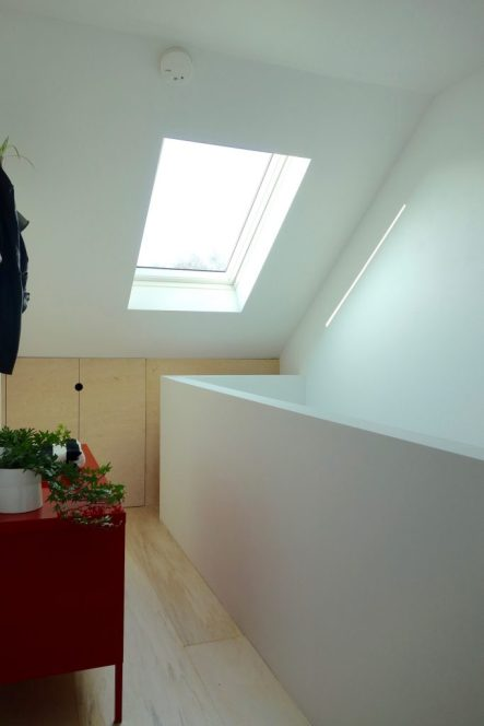 Loft landing velux window