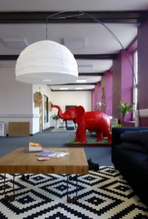 Floor Lamp and Klippan Sofa