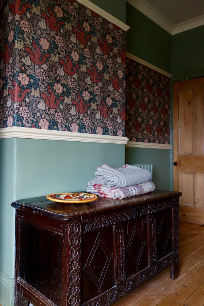 The Antique Blanket Box Which Was Originally In The Living Room If I  Remember Correctly, Now Sits Proudly In Front Of The Chimney Breast.