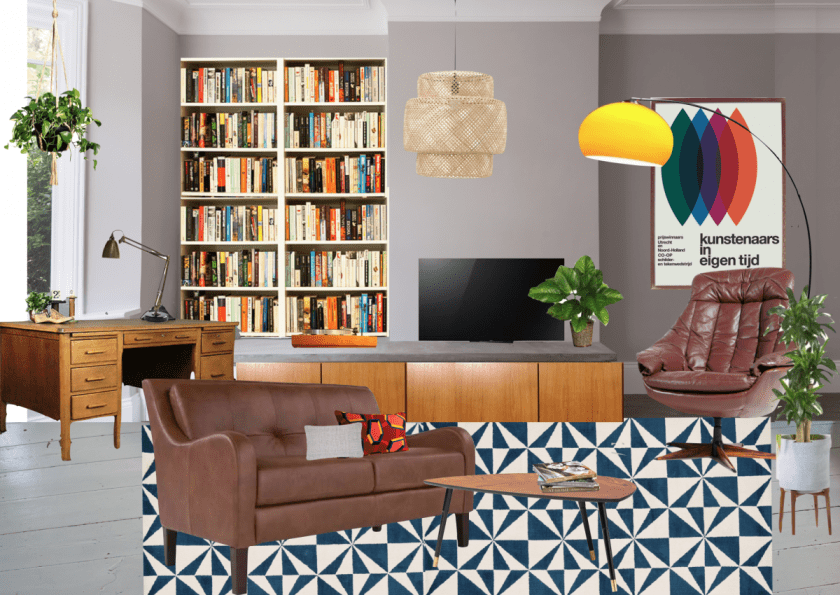 Making Spaces 70's Front Room Mood Board