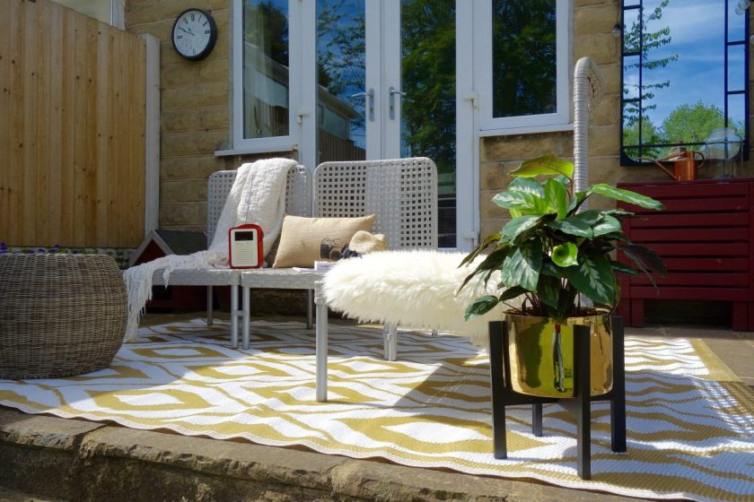 Outdoor Rug Garden Makeover #UKHomeBlogHop