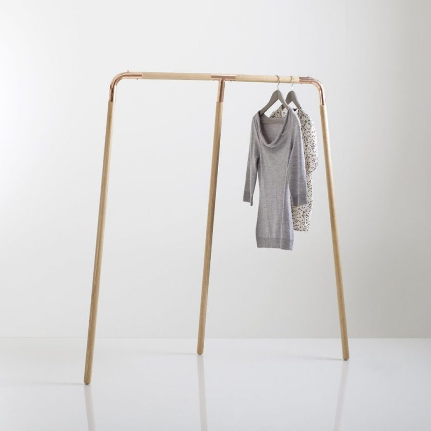 ELORI Solid Oak and Metal Clothes Rail