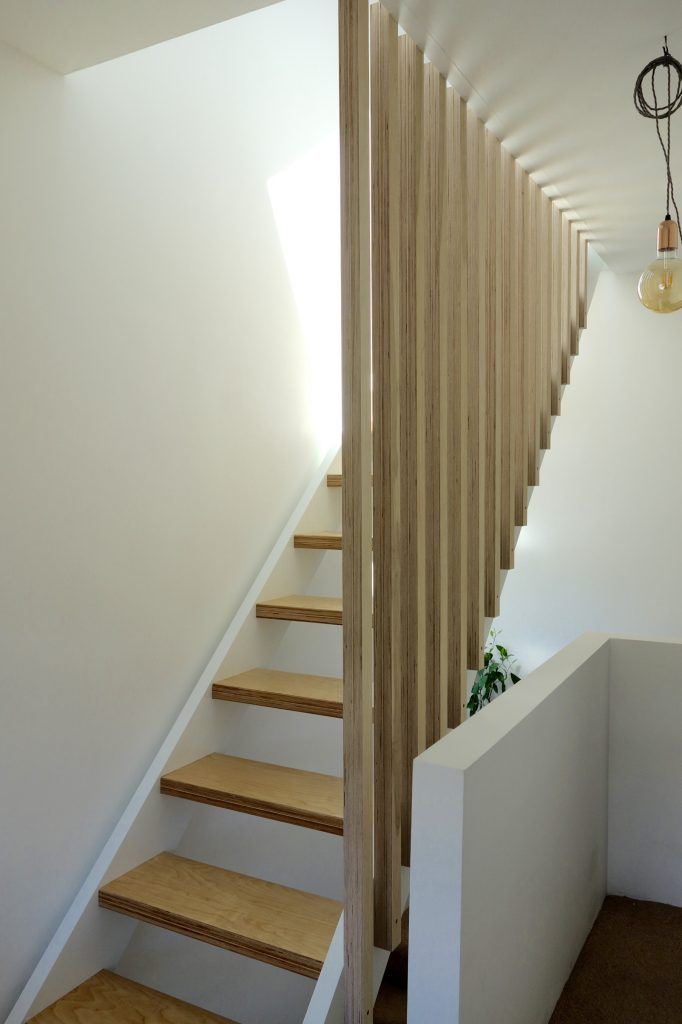 Full height ply banister