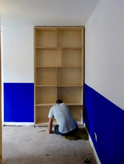 Cabinet in alcove