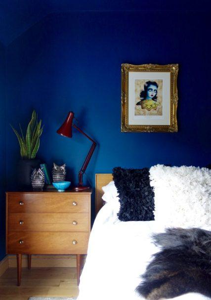 Bedside Dark Walls