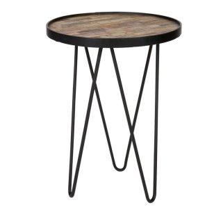 Lev+Wood+Metal+Side+Table