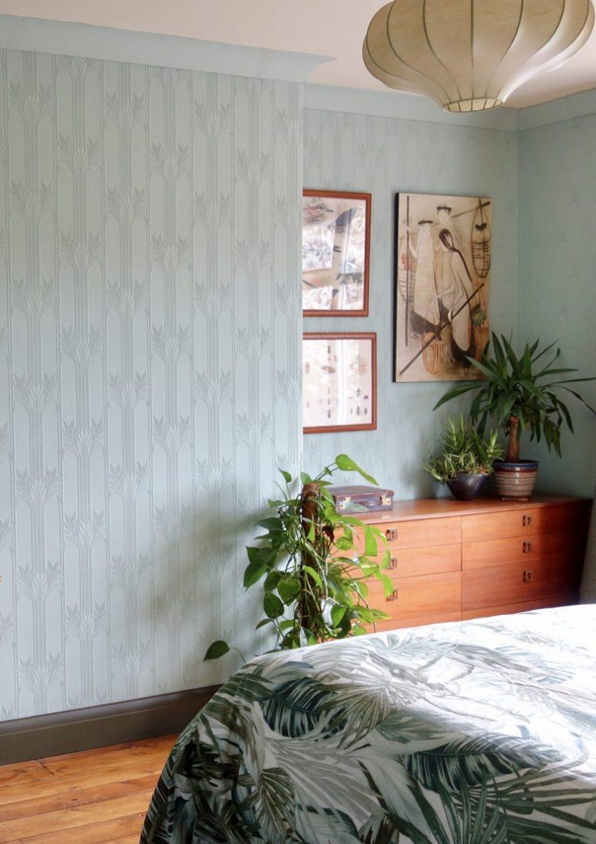 Aquamarine vintage bedroom