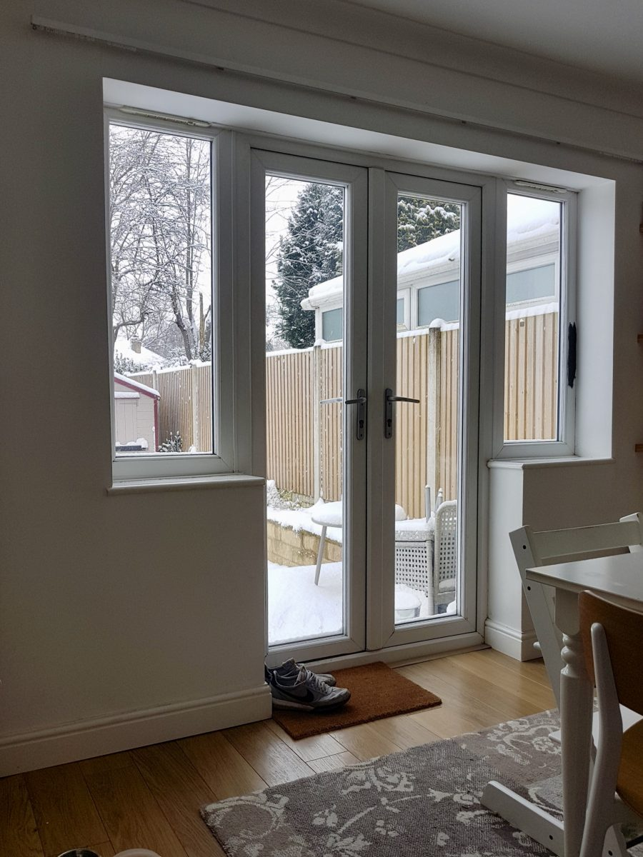How to get emulsion paint off upvc window frames