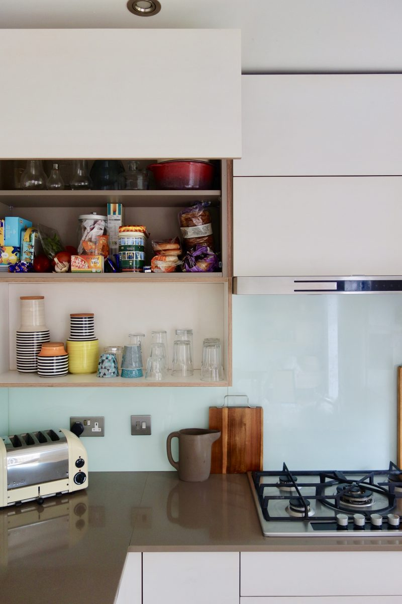 Horizontal kitchen wall cupboards