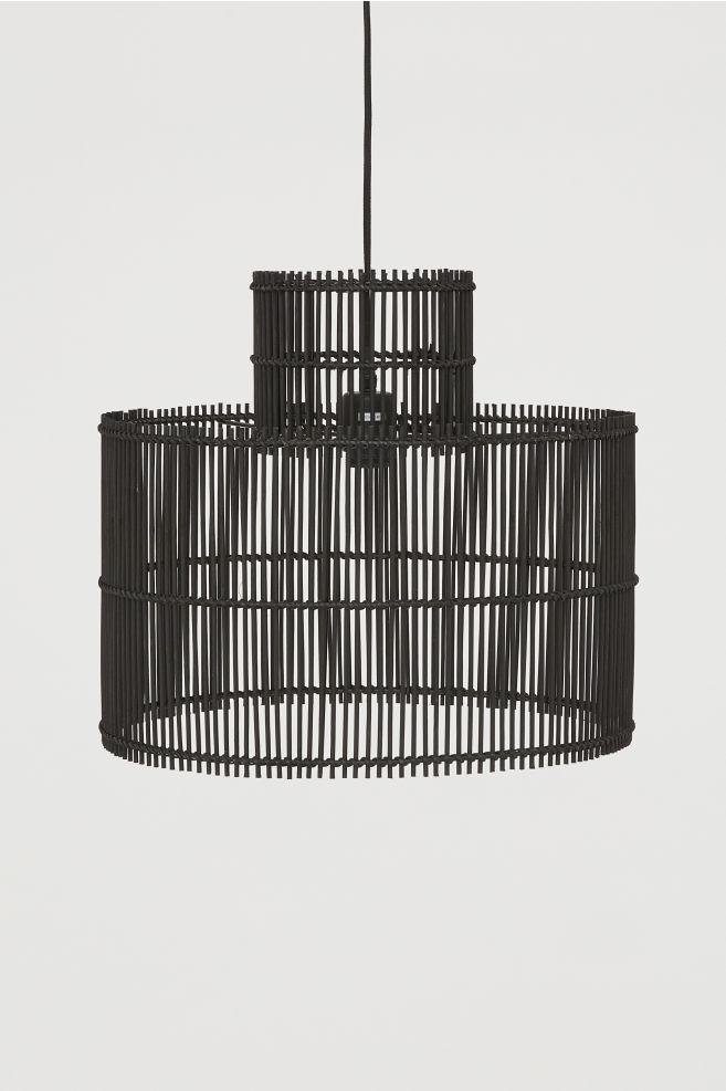 H&M Bamboo Black Pendant Light