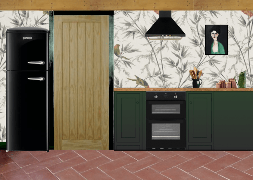 Victorian Cottage Kitchen Mock up