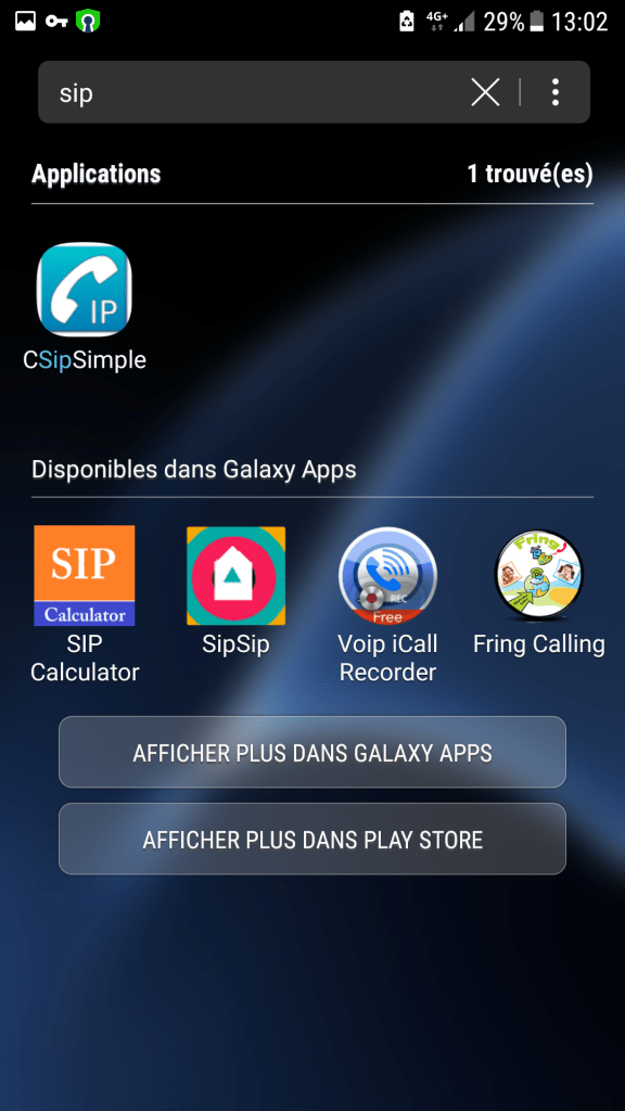 CSipSimple installed apps