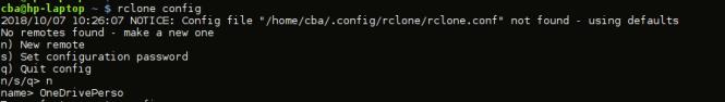 rclone-accéder OneDrive sous Linux - name