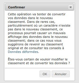 Confirmation pour la conversion