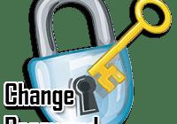 changement de mot de passe