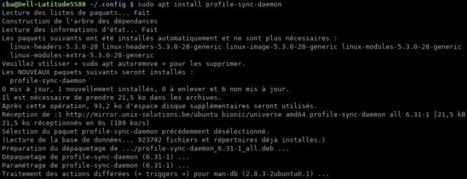 accélérer votre navigateur - psd - installation linux mint