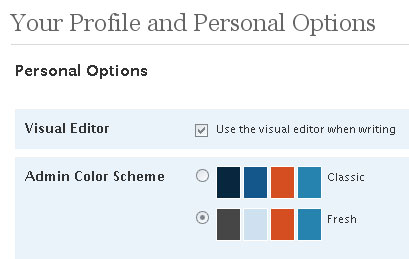 Wordpress Old Color Theme
