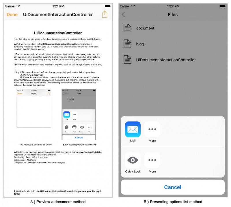 UI Documentation Controller - A & B