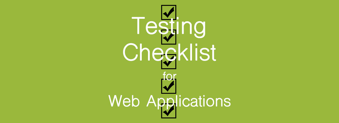Web Applications Testing Checklist