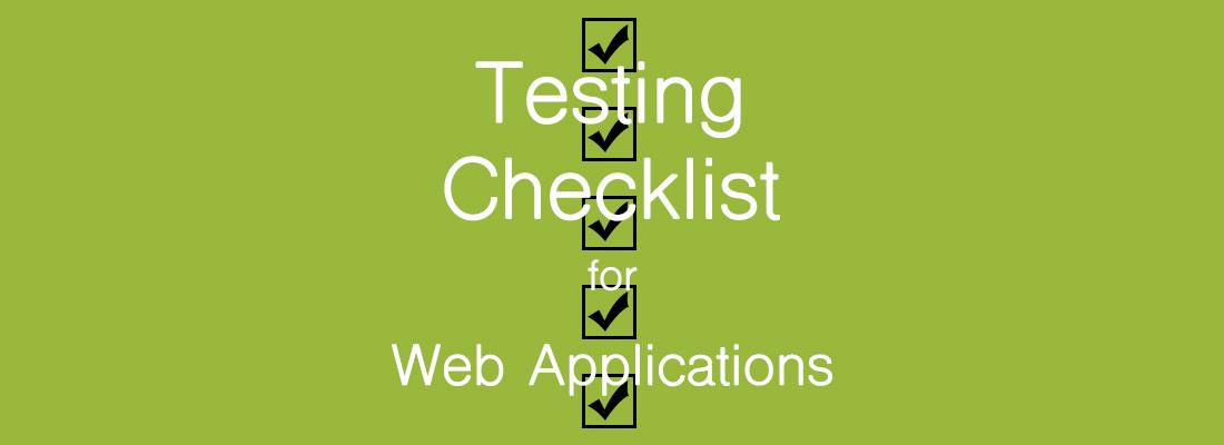 Web Applications Testing Checklist