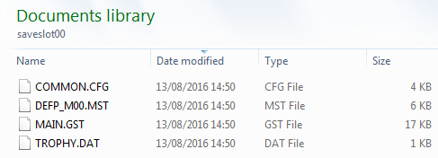 edf save files