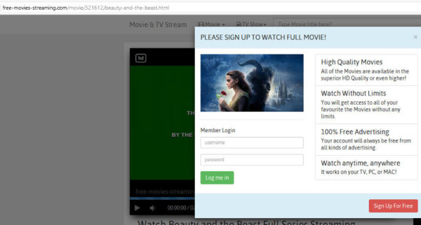 movie spam sign up link