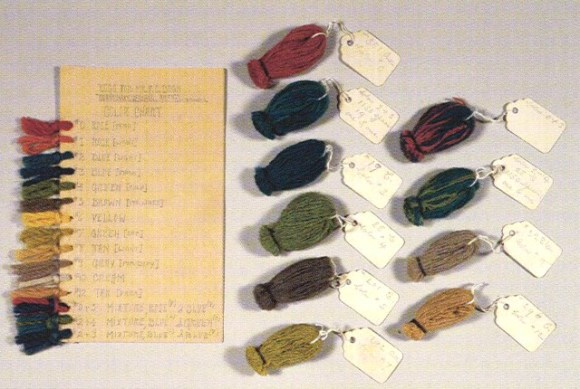 George Mann Niedecken, Rug wool color chart for F.C. Bogk Residence, ca. 1916-17. Milwaukee Art Museum, Gift of Mr. & Mrs. Robert L. Jacobson.
