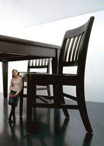 Robert Therrien, Under the Table, 1994. Wood, metal, and enamel. 117 x 312 x 216 in. overall. The Broad Art Foundation, Santa Monica. ©Robert Therrien. Photo ©Douglas M. Parker Studio, Los Angeles.