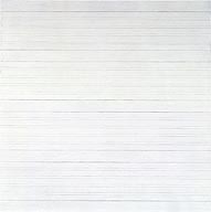 Agnes Martin. Untitled #10, 1977. Gesso, India ink, and graphite on canvas. Milwaukee Art Museum, Gift of Friends of Art. Photo credit Dedra Walls. © Artists Rights Society (ARS), New York