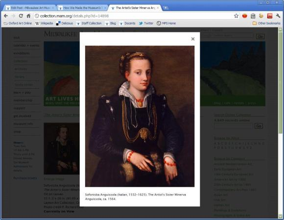 A view of a large-scale image on the Collections site.