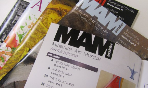 Stag Sans font used in the MAM Insider magazine. Photo by the author.