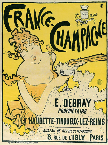 Pierre Bonnard, (French, 1867–1947), France-Champagne, 1889–1891. Color lithograph. Restricted gift of Dr. and Mrs. Martin L. Gecht, 1991.218, The Art Institute of Chicago. Image courtesy of The Art Institute of Chicago.