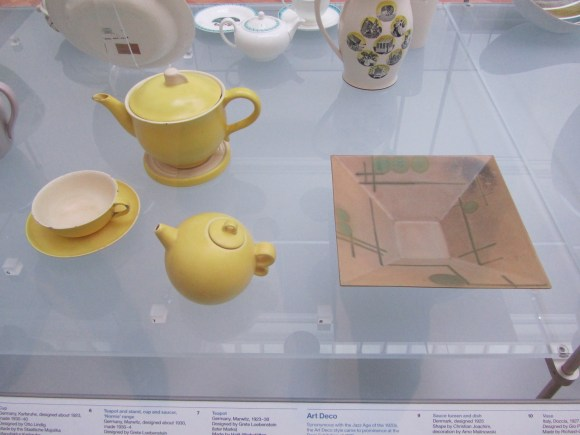 Grete Marks ceramics on view at the Victoria & Albert Museum in London. Photo by the author.