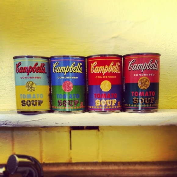 Warhol Soup Cans from Target. Photo by Kim Weiss