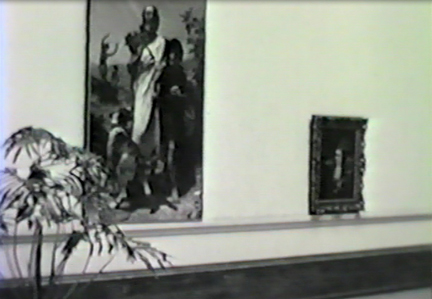Film still: Willam-Adolphe Bouguereau's Homer and His Guide in the Layton Art Gallery, circa 1957. Milwaukee Art Museum, Institutional Archives.