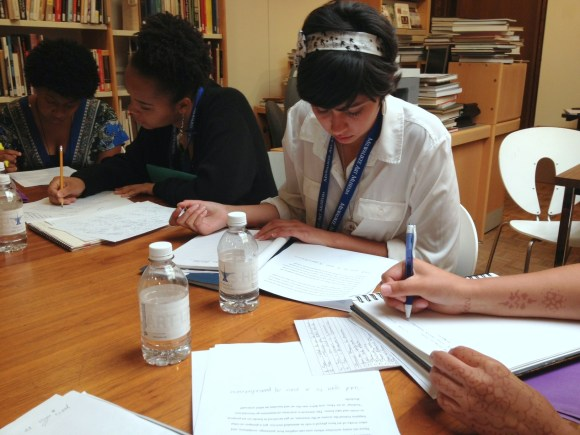 Interns editing during the video making process. Photo by Chelsea Kelly